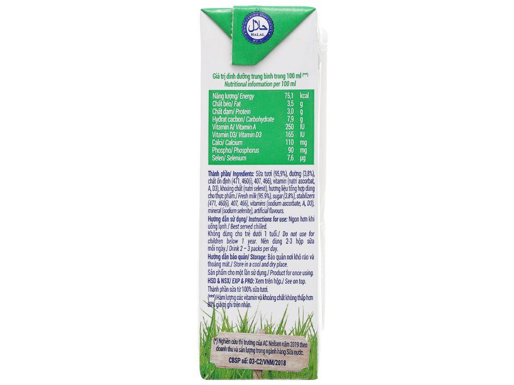 Lốc 4 hộp sữa tươi có đường Vinamilk 180ml 9