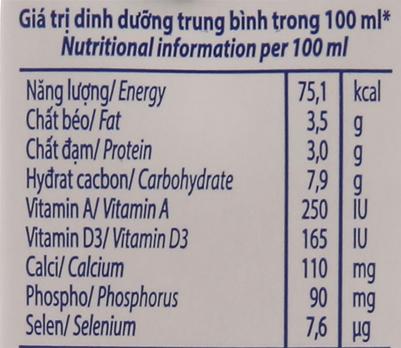 Lốc 4 hộp sữa tươi có đường Vinamilk 100% Sữa Tươi 180ml 5