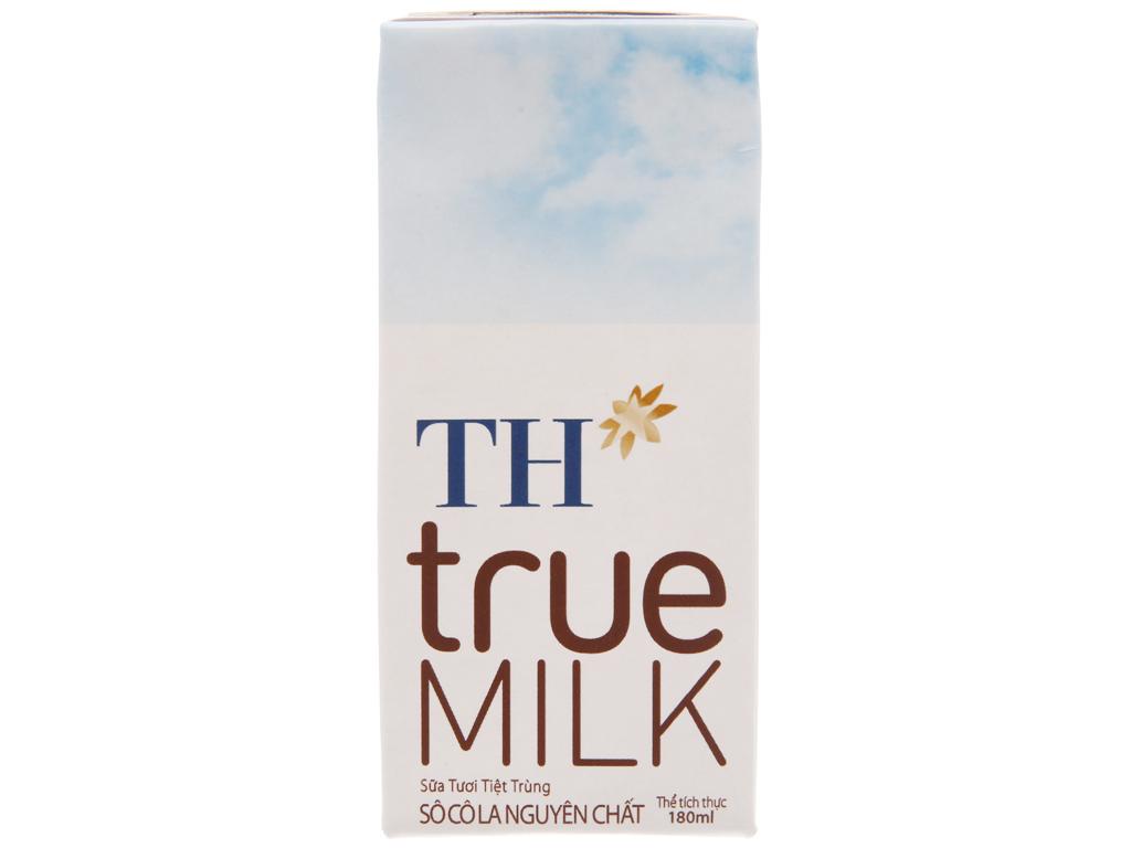 Sữa tươi tiệt trùng TH true MILK socola hộp 180ml 3
