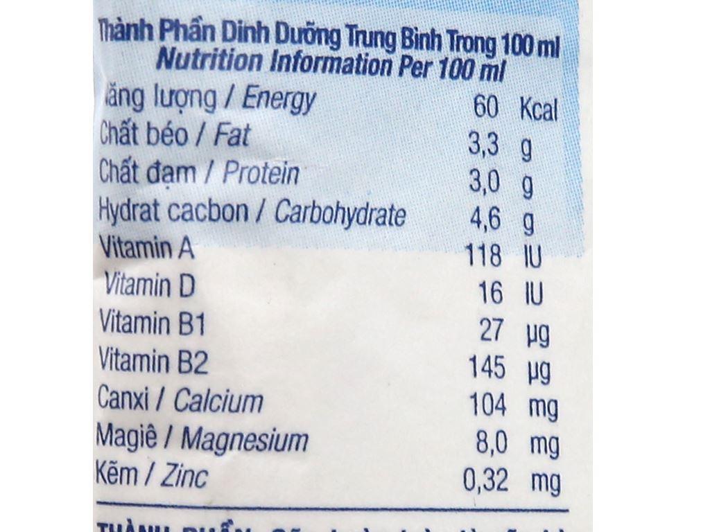 Sữa tươi tiệt trùng nguyên chất không đường TH true MILK bịch 220ml 7