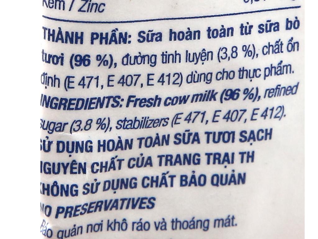 Sữa tươi tiệt trùng có đường TH true MILK bịch 220ml 8