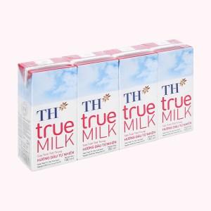 Lốc 4 hộp sữa tươi tiệt trùng hương dâu TH true MILK 180ml