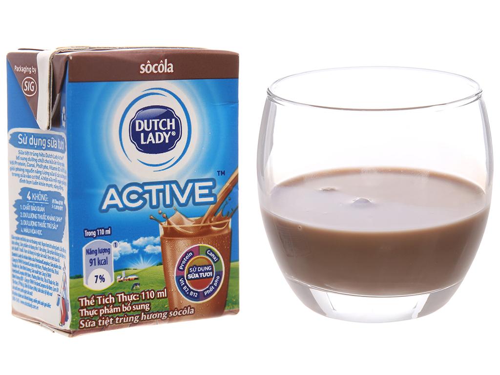 Lốc 4 hộp sữa tiệt trùng Dutch Lady sô cô la 110ml 2