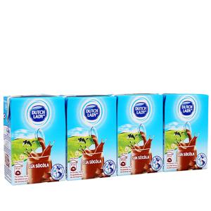 Lốc 4 hộp sữa tiệt trùng socola Dutch Lady 110ml