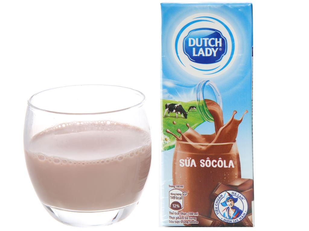 Lốc 4 hộp sữa tiệt trùng socola Dutch Lady 180ml 5