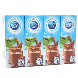 Lốc 4 hộp sữa tiệt trùng socola Dutch Lady 180ml