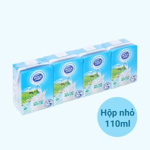 Lốc 4 hộp sữa tiệt trùng có đường Dutch Lady 110ml