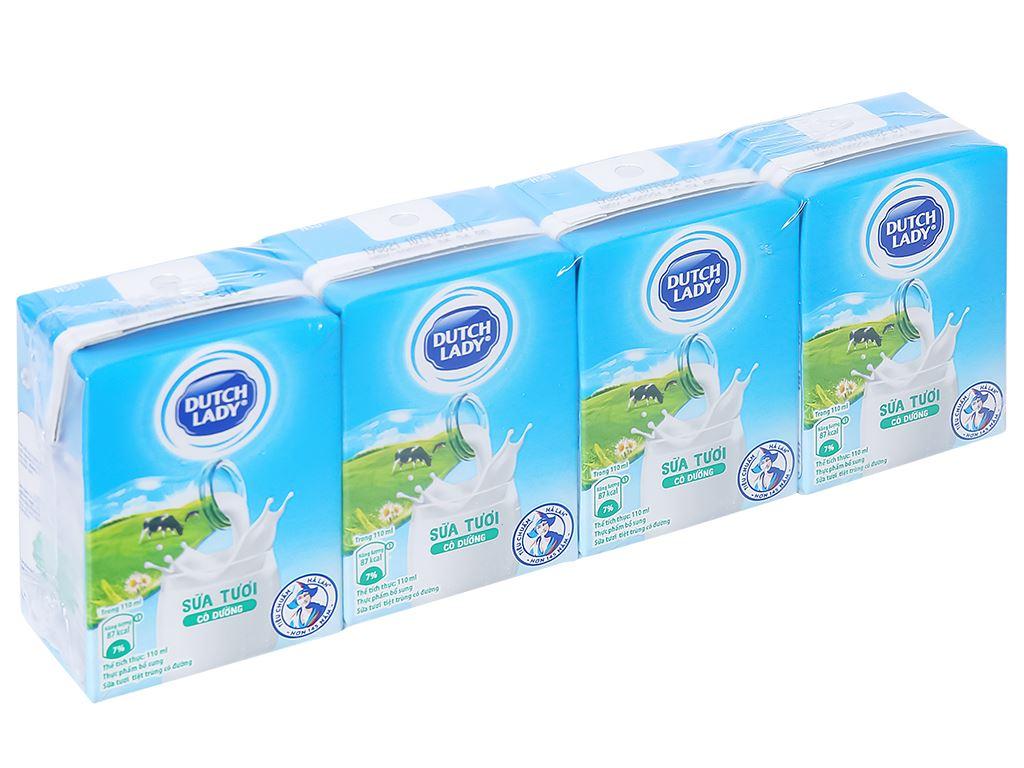 Lốc 4 hộp sữa tiệt trùng có đường Dutch Lady 110ml 1
