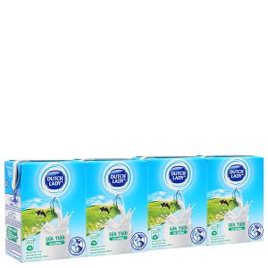 Lốc 4 hộp sữa tiệt trùng Dutch Lady có đường 110ml