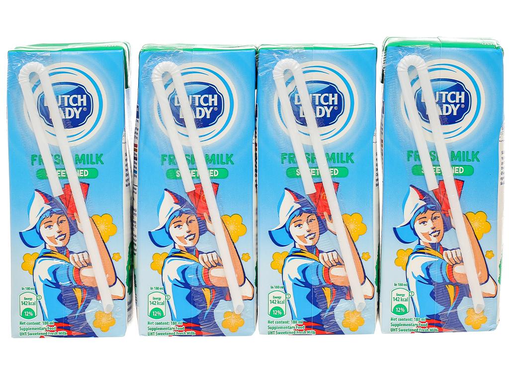 Lốc 4 hộp sữa tươi tiệt trùng có đường Dutch Lady 180ml 3