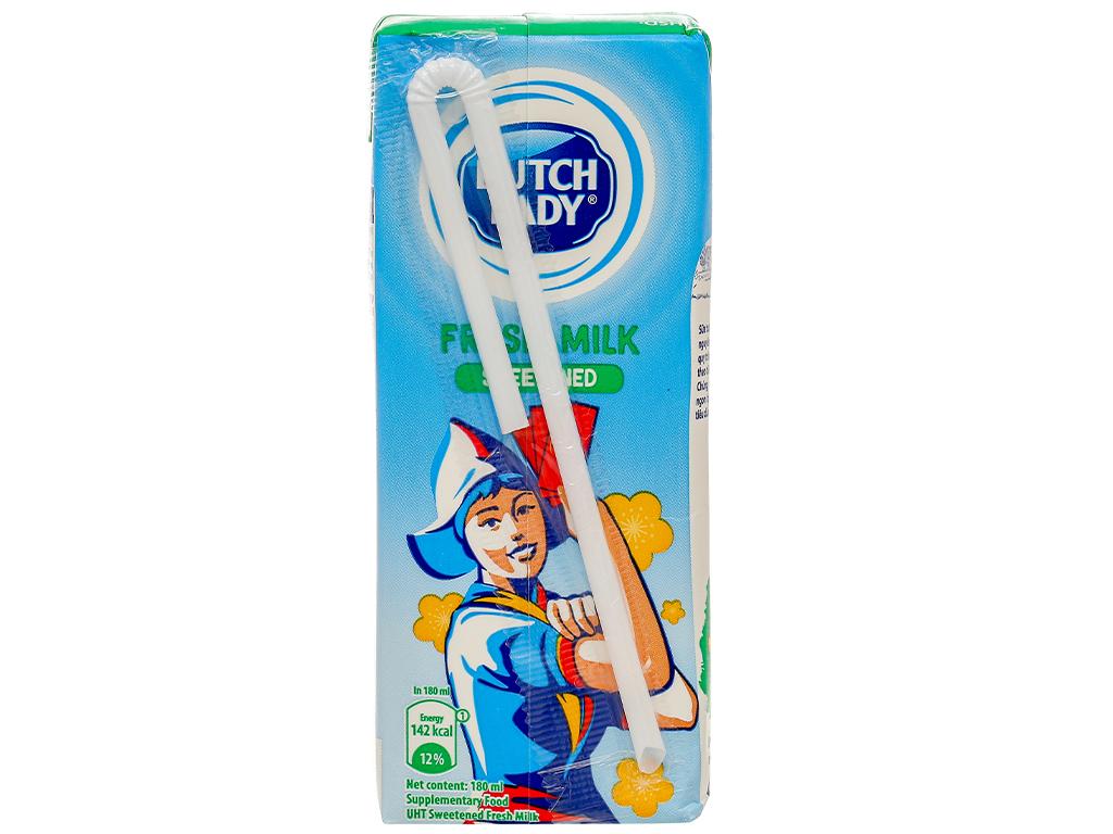 Lốc 4 hộp sữa tươi tiệt trùng có đường Dutch Lady 180ml 6