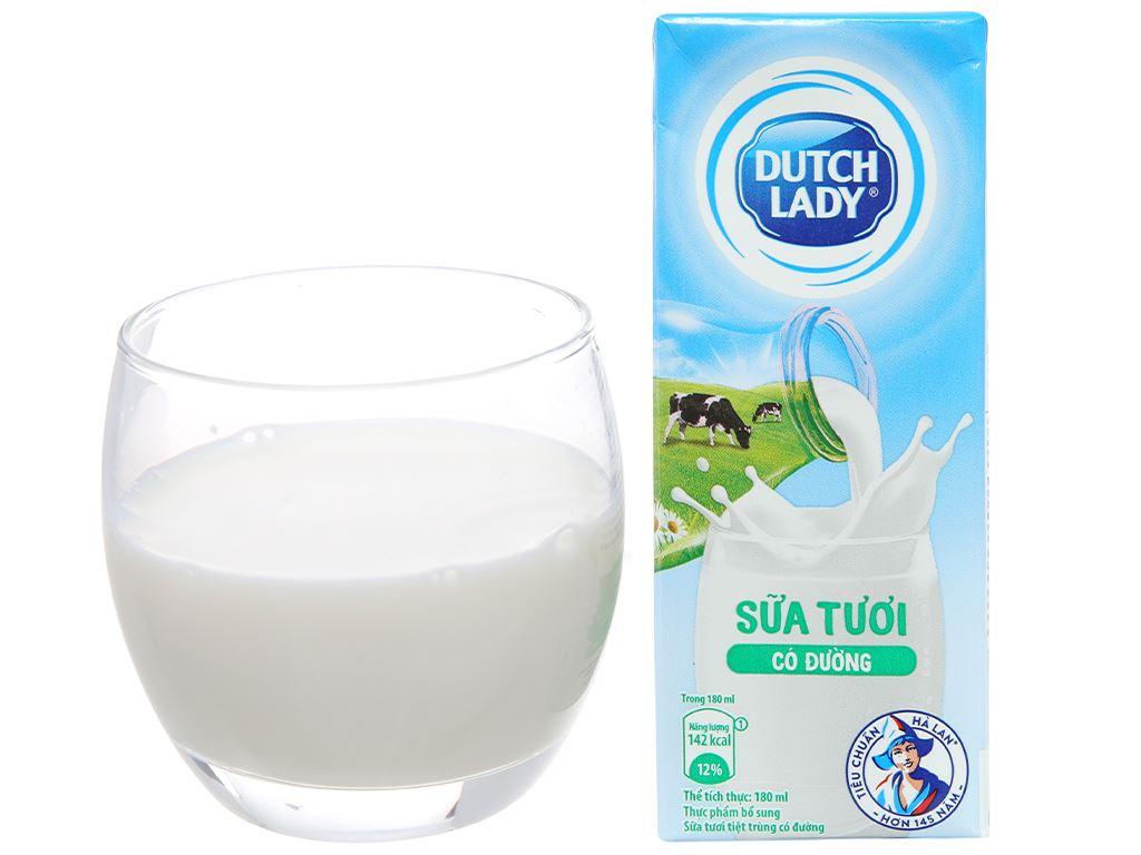 Lốc 4 hộp sữa tươi tiệt trùng có đường Dutch Lady 180ml 7