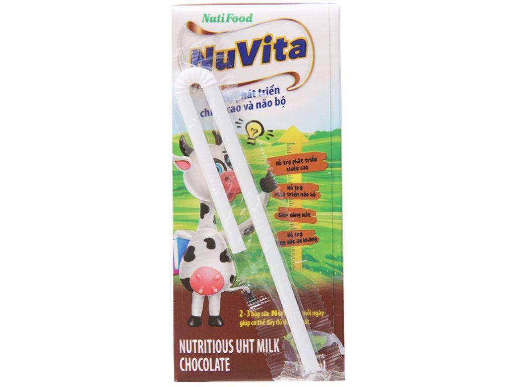 Lốc 4 hộp sữa tiệt trùng Nuvita sô cô la 180ml 4