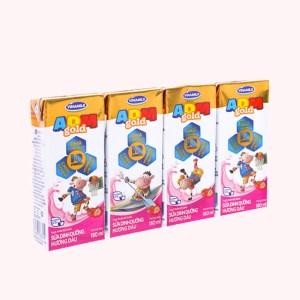 Lốc 4 hộp sữa dinh dưỡng hương dâu Vinamilk ADM Gold 180ml