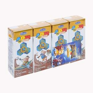 Lốc 4 hộp sữa dinh dưỡng socola Vinamilk ADM Gold 180ml