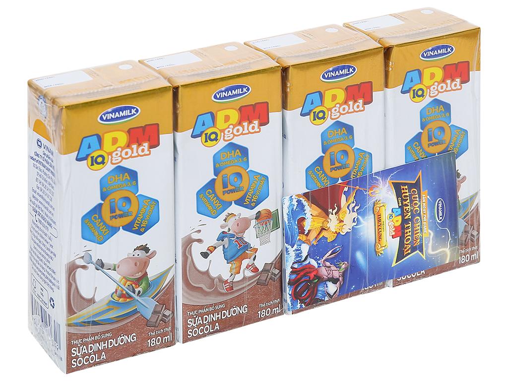 Lốc 4 hộp sữa dinh dưỡng socola Vinamilk ADM Gold 180ml 1