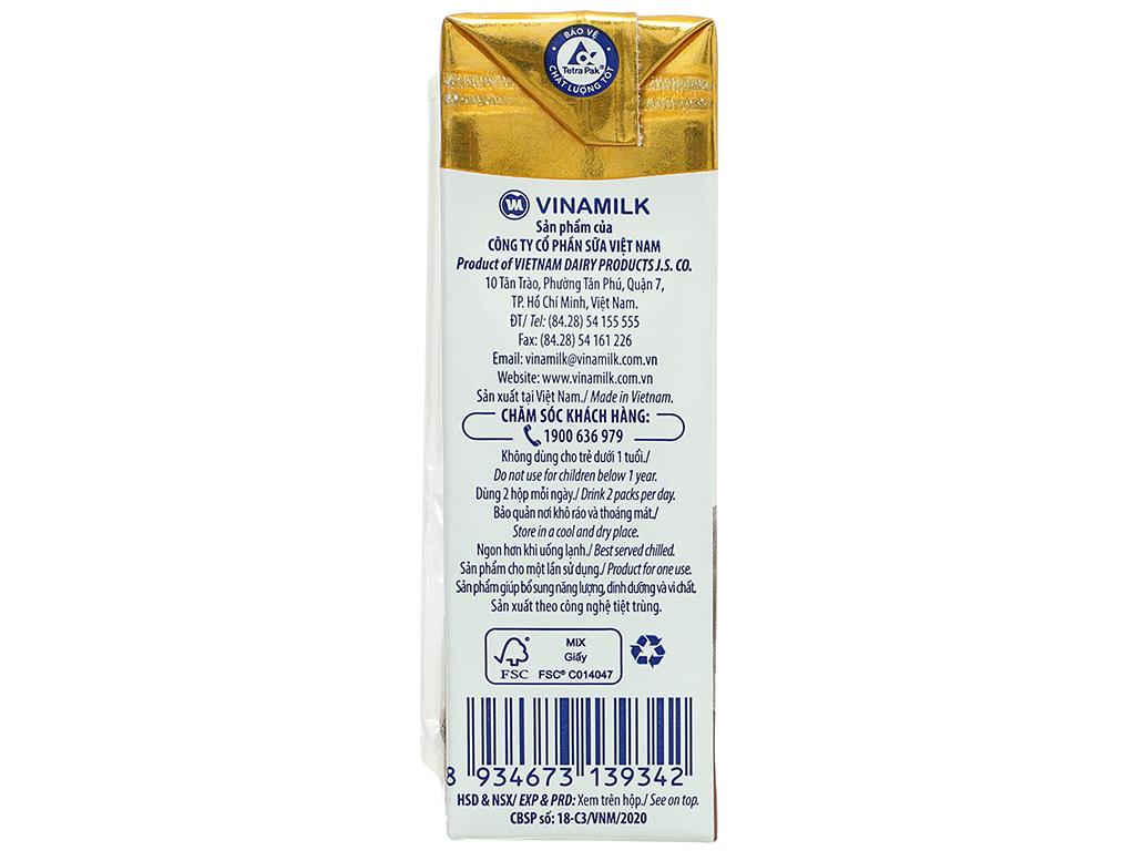 Lốc 4 hộp sữa dinh dưỡng socola Vinamilk ADM Gold 180ml 12