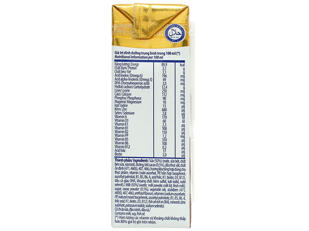 Lốc 4 hộp sữa dinh dưỡng socola Vinamilk ADM Gold 180ml 13
