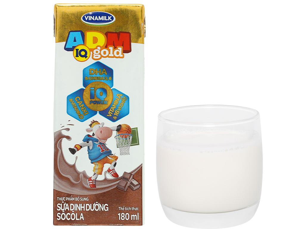 Lốc 4 hộp sữa dinh dưỡng socola Vinamilk ADM Gold 180ml 16