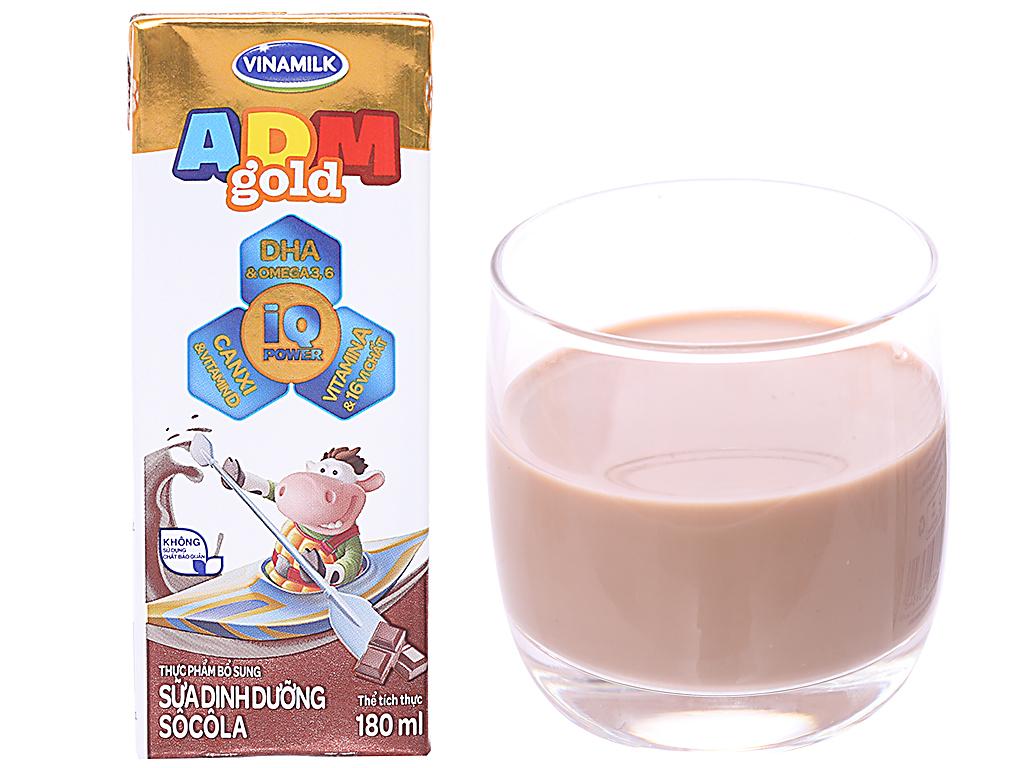 Lốc 4 hộp sữa dinh dưỡng Vinamilk ADM Gold sô cô la 180ml 2