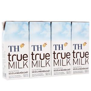 Lốc 4 hộp sữa tươi tiệt trùng socola TH true MILK 180ml