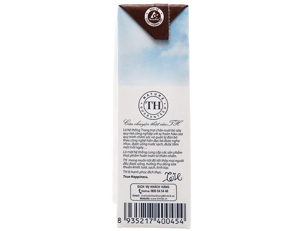 Lốc 4 hộp sữa tươi tiệt trùng socola TH true MILK 180ml 11