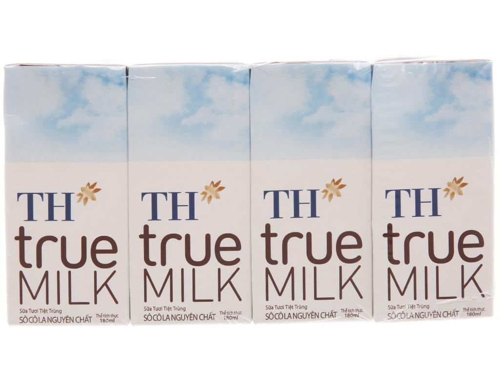 Lốc 4 hộp sữa tươi tiệt trùng socola TH true MILK 180ml 2