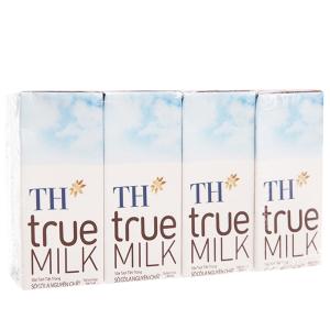 Lốc 4 hộp sữa tươi tiệt trùng TH true MILK sô cô la 180ml