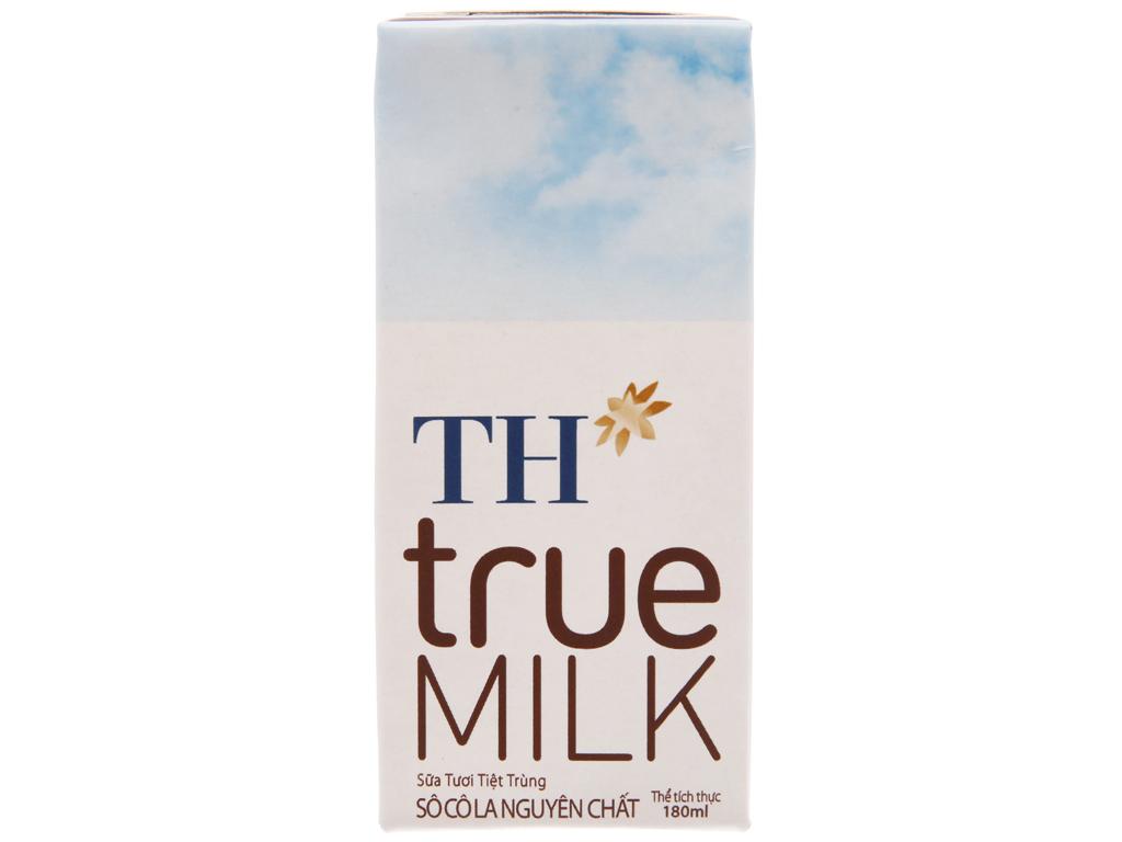 Lốc 4 hộp sữa tươi tiệt trùng socola TH true MILK 180ml 3