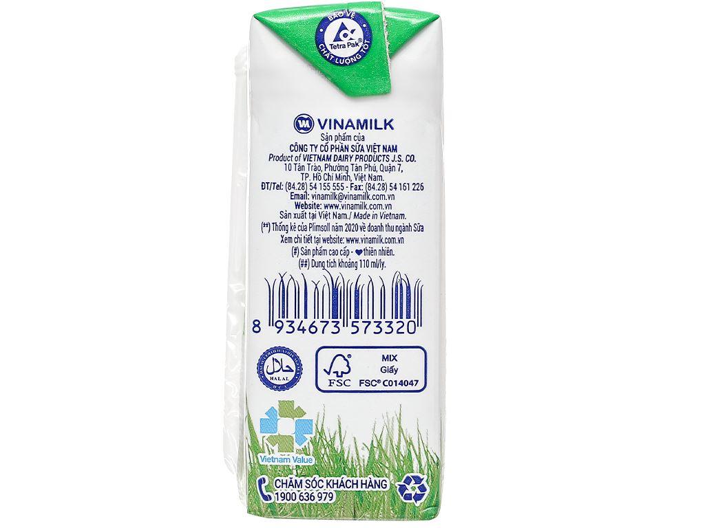 Lốc 4 hộp sữa tươi có đường Vinamilk 110ml 9