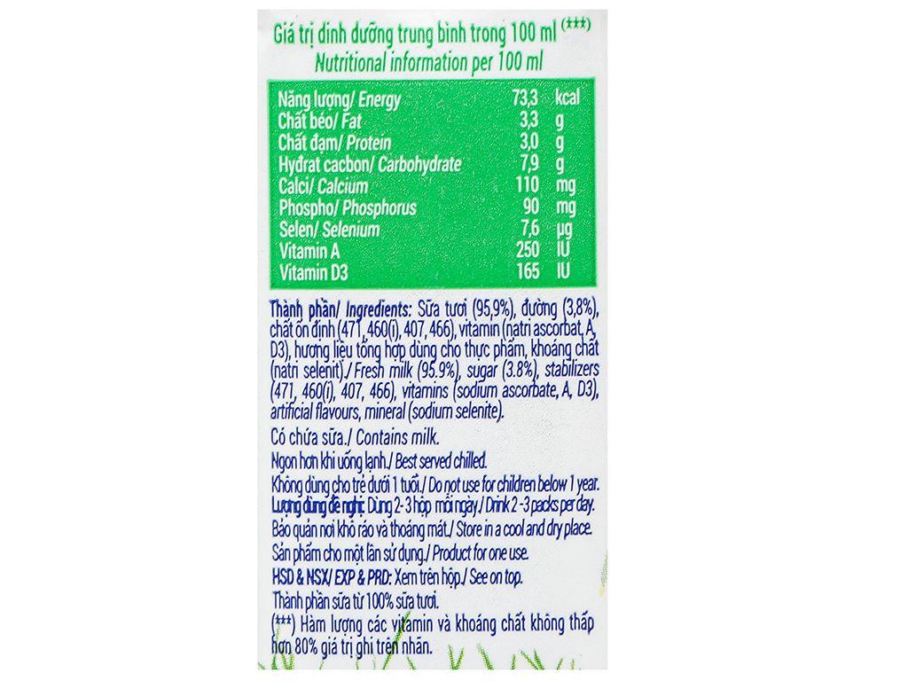 Lốc 4 hộp sữa tươi có đường Vinamilk 110ml 10