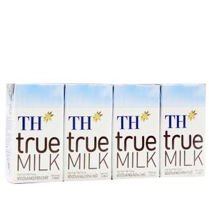 Lốc 4 hộp sữa tươi tiệt trùng TH true MILK sô cô la 110ml