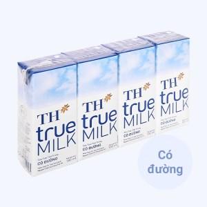 Lốc 4 hộp sữa tươi tiệt trùng có đường TH true MILK 180ml
