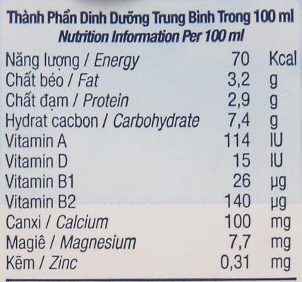 Lốc 4 hộp sữa tươi tiệt trùng ít đường TH true MILK 180ml 5