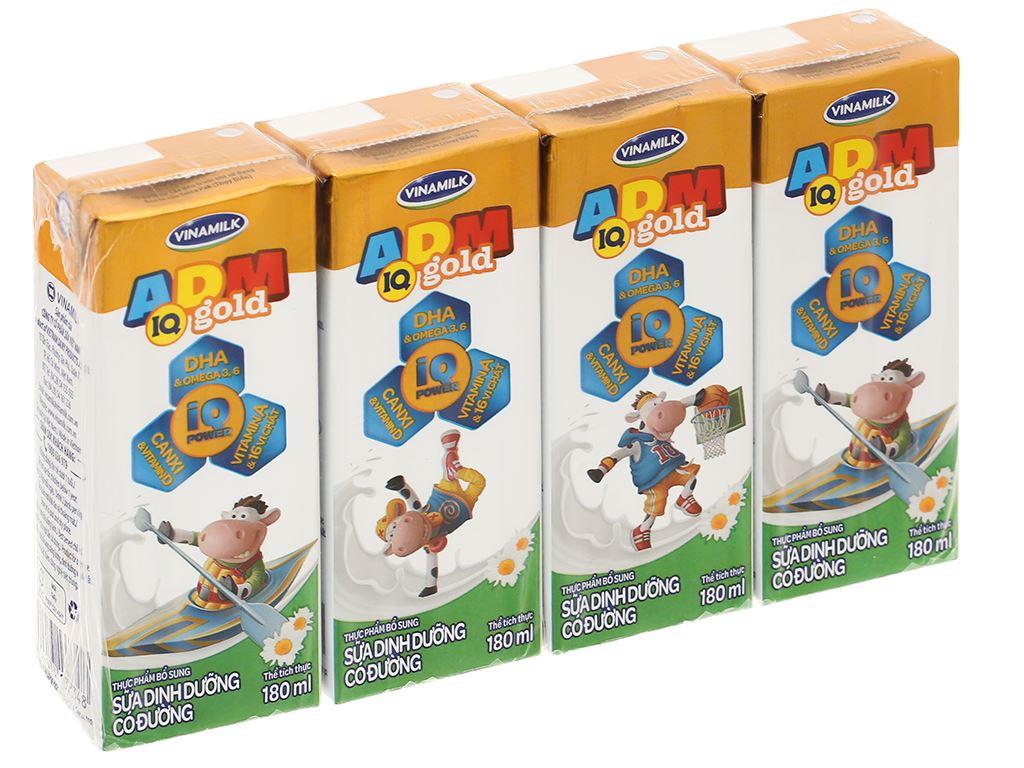 Lốc 4 hộp sữa dinh dưỡng có đường Vinamilk ADM Gold 180ml 1