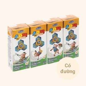Lốc 4 hộp sữa dinh dưỡng có đường Vinamilk ADM Gold 180ml