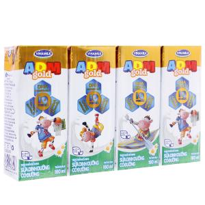 Lốc 4 hộp sữa dinh dưỡng Vinamilk ADM Gold có đường 180ml