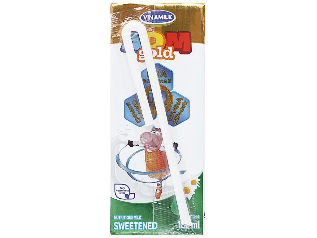Lốc 4 hộp sữa dinh dưỡng Vinamilk ADM Gold có đường 180ml 3