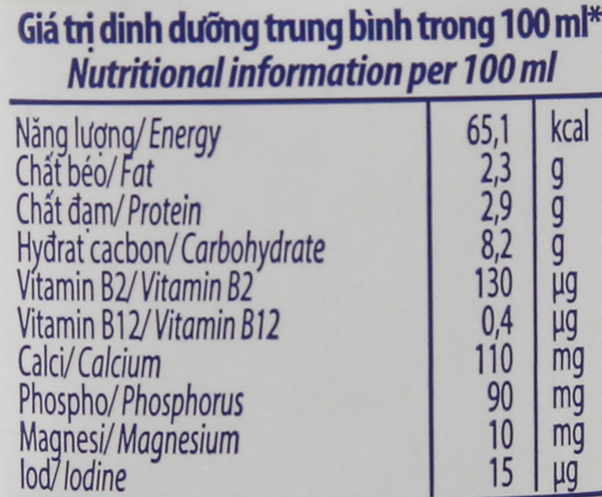Lốc 4 hộp sữa tươi tiệt trùng Vinamilk Tách béo 1/3 có đường 180ml 6