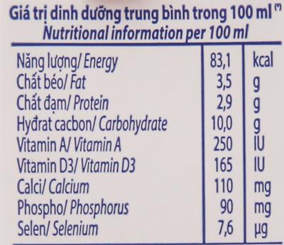 Lốc 4 hộp sữa tươi tiệt trùng Vinamilk 100% Sữa Tươi hương dâu 180ml 6