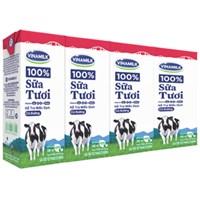 Sữa tươi tiệt trùng Vinamilk hương Dâu hộp 180ml (4 hộp)