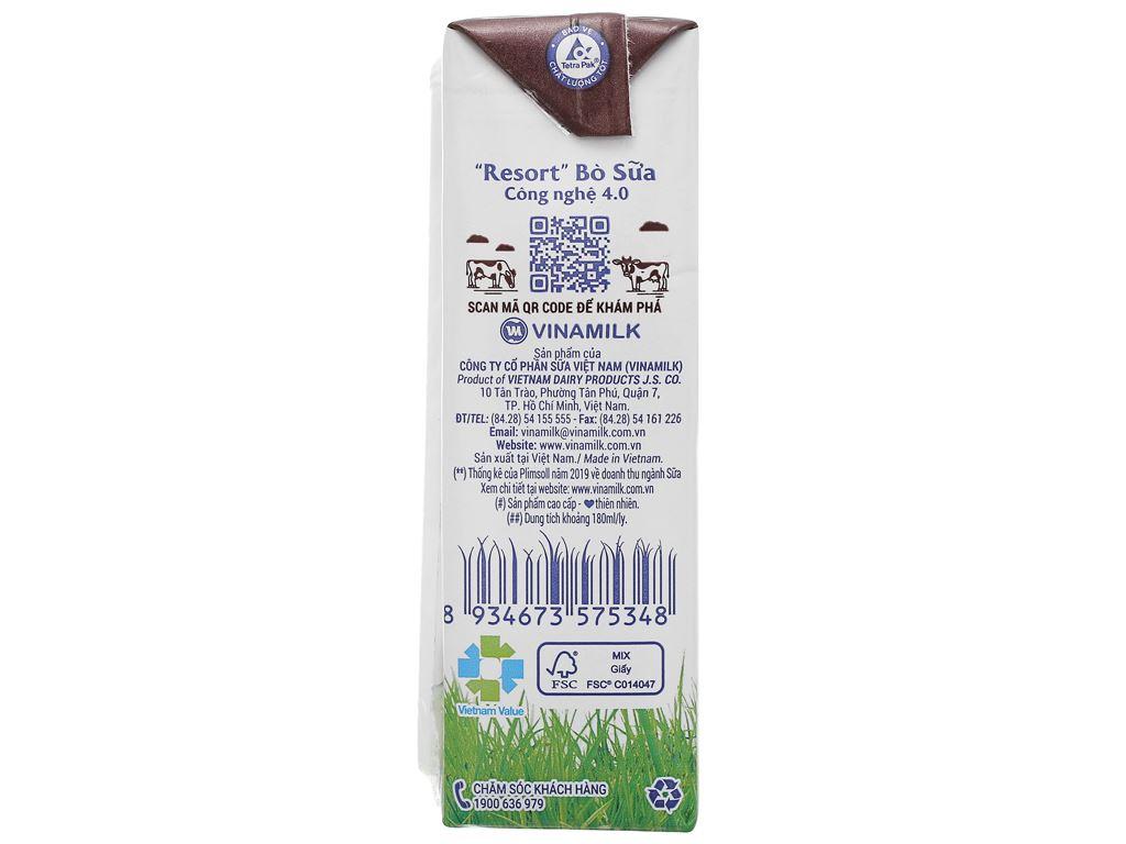 Lốc 4 hộp sữa tươi socola Vinamilk 100% Sữa Tươi 180ml 9