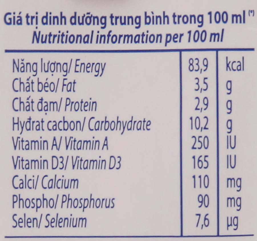 Lốc 4 hộp sữa tươi socola Vinamilk 100% Sữa Tươi 180ml 6