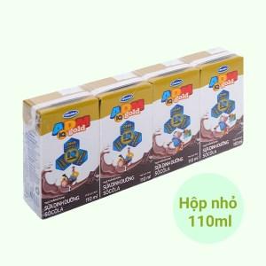 Lốc 4 hộp sữa dinh dưỡng socola Vinamilk ADM Gold 110ml