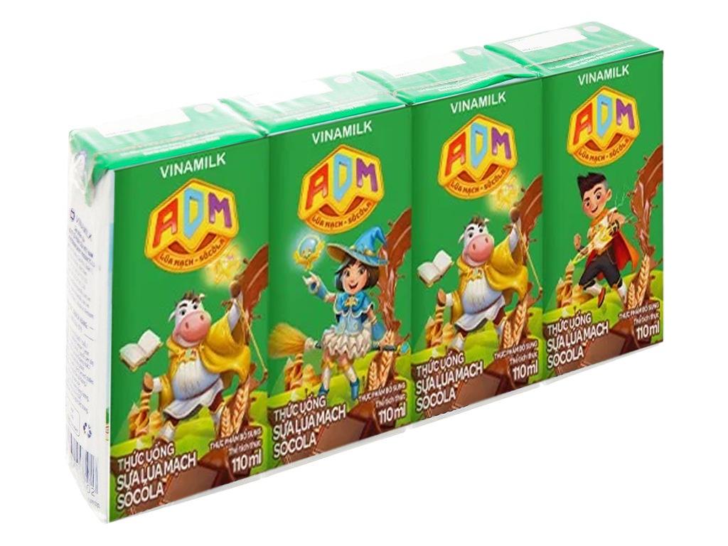 Lốc 4 hộp sữa dinh dưỡng socola Vinamilk ADM Gold 110ml 1