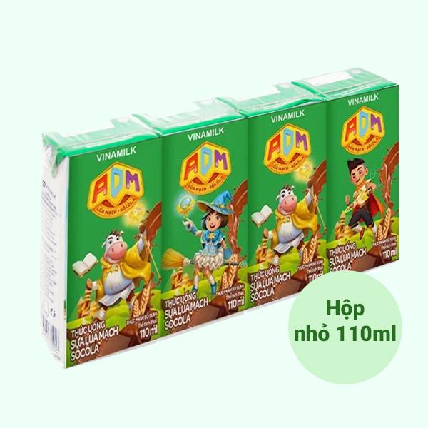 Lốc 4 hộp sữa dinh dưỡng lúa mạch Vinamilk ADM 110ml