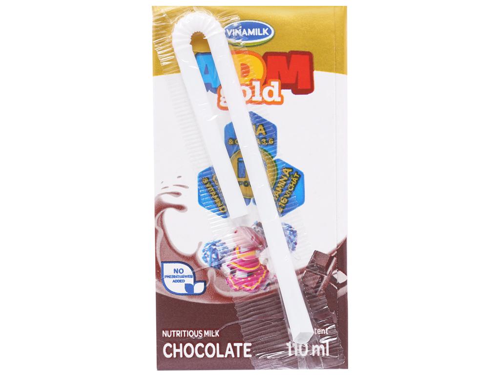 Lốc 4 hộp sữa dinh dưỡng socola Vinamilk ADM Gold 110ml 3