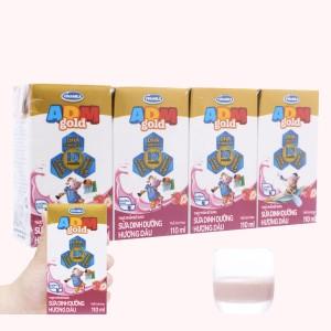 Lốc 4 hộp sữa dinh dưỡng hương dâu Vinamilk ADM Gold 110ml