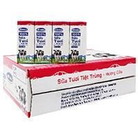 Thùng sữa tươi tiệt trùng Vinamilk hương Dâu hộp 180ml (48 hộp)