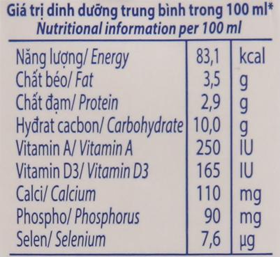 Thùng 48 hộp sữa tươi tiệt trùng Vinamilk 100% Sữa Tươi hương dâu 110ml 6